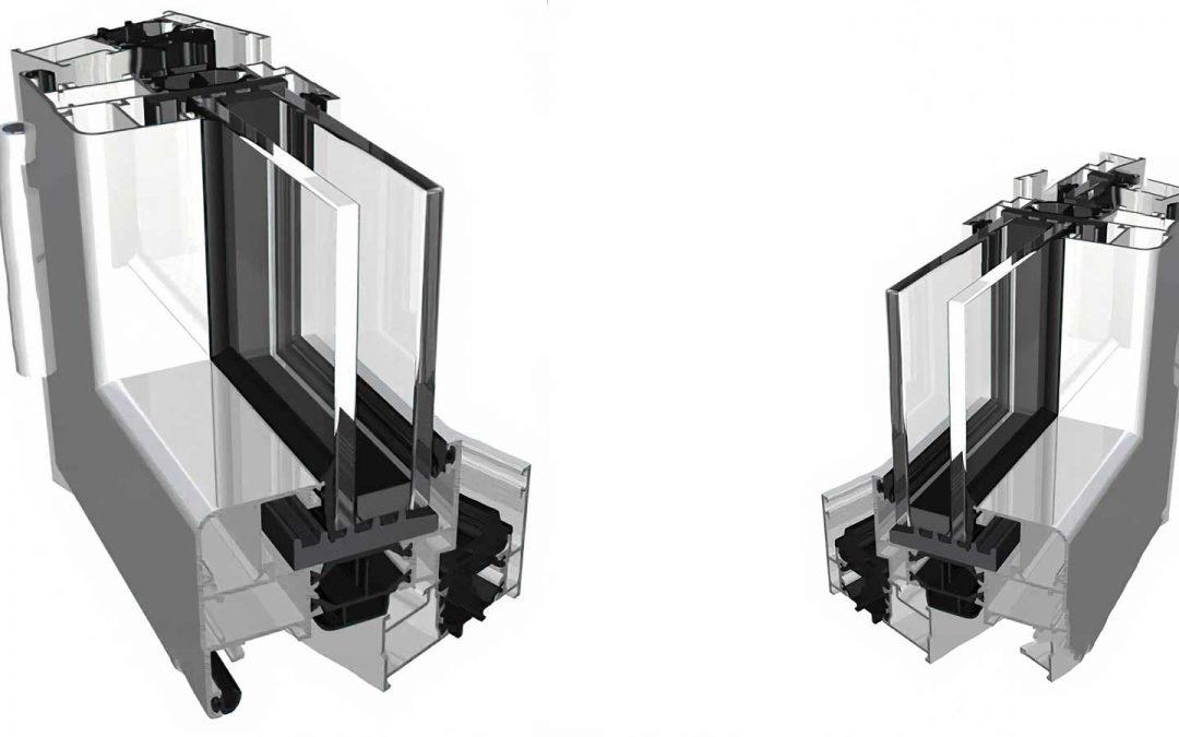 sezione serramento alluminio